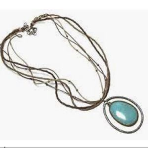 Silpada Turquoise Brass & Sterling Silver Necklace